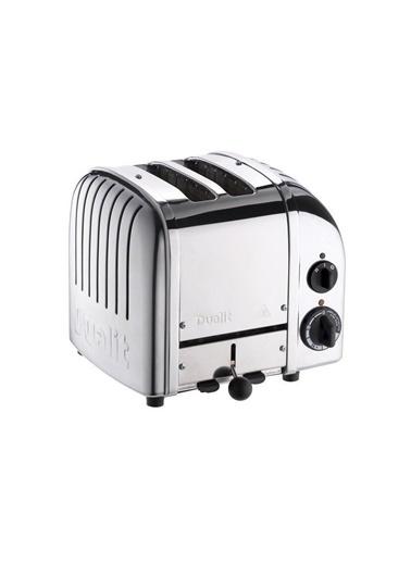 Quail Quail Dualit 27030 Classic El Yapımı 2 Hazneli Çelik Inox Ekmek Kızartma Makinesi Gri